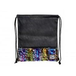 Luxusné vrecúško / taška na chrbát HASH®, Gold Sequins, HS-139
