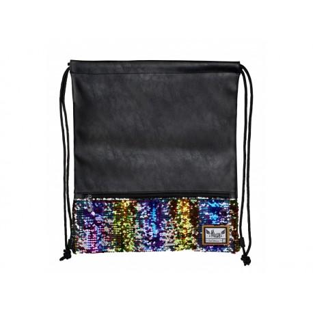 Luxusné vrecúško / taška na chrbát HASH®, Gold Sequins, HS-139, 507019024