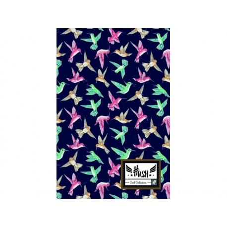 HASH® Poznámkový blok B5 Tiny Bird, HS-150, 160 listov, štvorčekový (5x5mm), 101019011 HASH® HAS0967