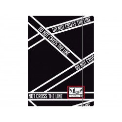 Box na spisy s gumičkou papierový A4 HASH® Cross Line, HS-145
