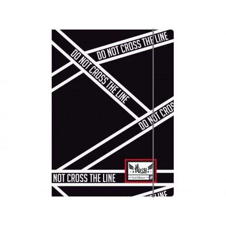 Box na spisy s gumičkou papierový A4 HASH® Cross Line, HS-145 HASH® HAS1987