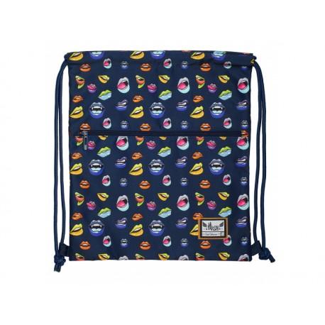 HASH® Luxusné vrecúško / taška na chrbát Lips, HS-186, 507019029 HASH® HAS0941