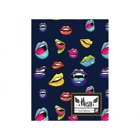 Zošit A5 HASH® Lips, HS-140, 60 listov, štvorčekový (5x5mm), 565 HASH® HAS0940