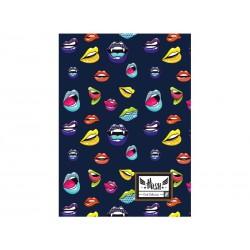 Zošit A4 HASH® Lips, HS-155, 60 listov, štvorčekový (5x5mm), 465