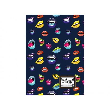 Zošit A4 HASH® Lips, HS-155, 60 listov, štvorčekový (5x5mm), 465 HASH® HAS0939