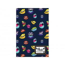 Poznámkový blok B5 HASH® Lips, HS-150, 160 listov, štvorčekový (5x5mm)