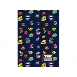Box na spisy s gumičkou papierový A4 HASH® Lips, HS-145