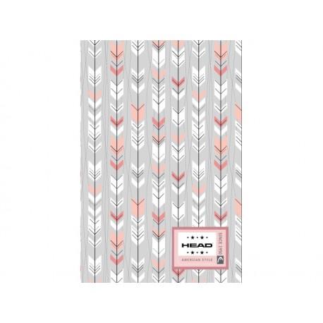 Poznámkový blok B5 HEAD Arrow, HD-374,160 listov, štvorčekový (5x5mm), 101019003 HEAD AST0915