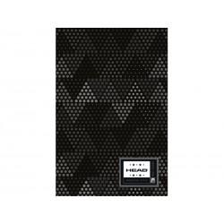 Poznámkový blok B5 HEAD Dark, HD-374,160 listov, štvorčekový (5x5mm)