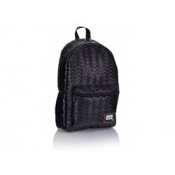 Štýlový koženkový batoh HEAD Black, HD-349, 502019084