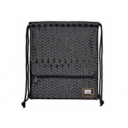 Luxusné koženkové vrecúško / taška na chrbát HEAD Black, HD-350