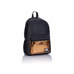 88d9a17182 Štýlový koženkový batoh HEAD Black Gold