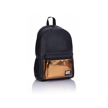 Štýlový koženkový batoh HEAD Black Gold, HD-351, 502019085