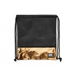 Luxusné koženkové vrecúško / taška na chrbát HEAD Black Gold, HD-352