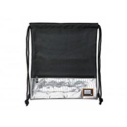 Luxusné koženkové vrecúško / taška na chrbát HEAD Black Silver, HD-354