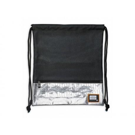 Luxusné koženkové vrecúško / taška na chrbát HEAD Black Silver, HD-354 HEAD HAS0898