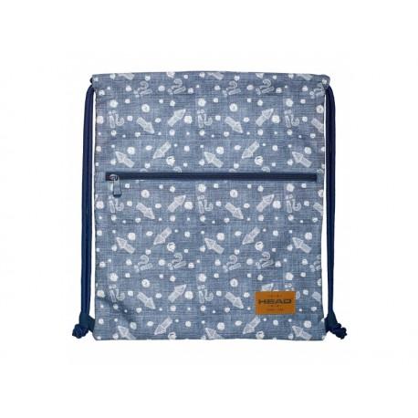 HEAD Luxusné vrecúško / taška na chrbát  Denim Arrow, HD-392, 507019027