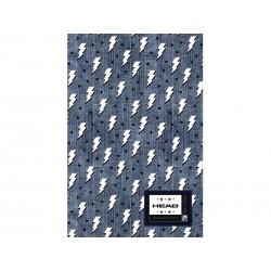 Poznámkový blok B5 HEAD Denim Flash, HD-374,160 listov, štvorčekový (5x5mm)