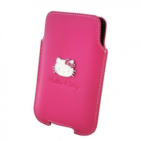Kožené puzdro na mobil HELLO KITTY Pink