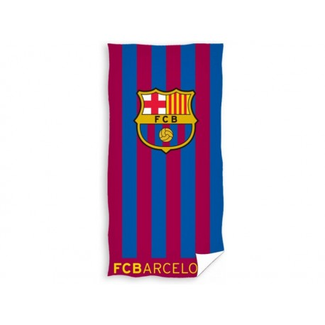 CARBOTEX Bavlnená osuška 70/140cm FC BARCELONA Stripes CARBOTEX BRC1558x