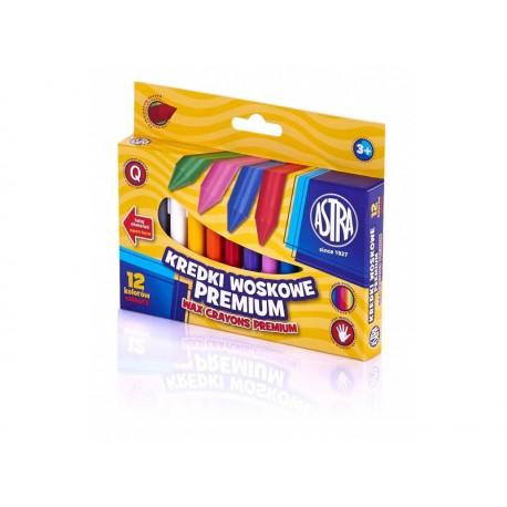 ASTRA Voskové farbičky Premium 12ks, 316111001 ASTRA AST2001