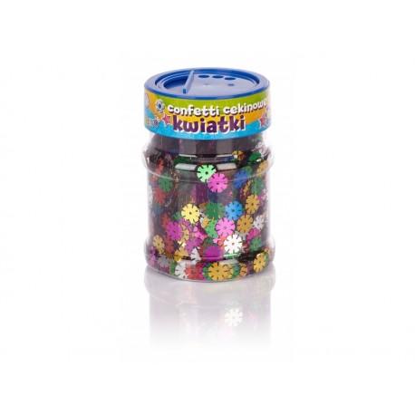 CREATIVO Dekoračné konfety KVIETKY Metalic 100g, 335114004 ASTRA AST2307