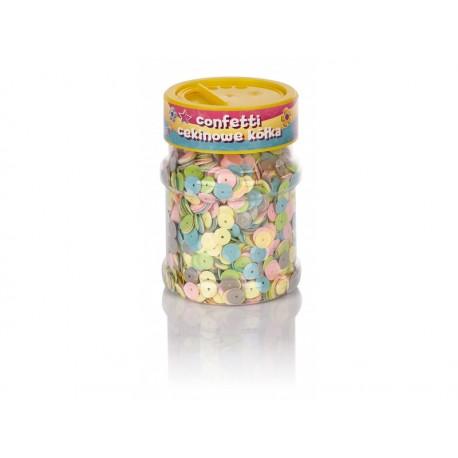 CREATIVO Dekoračné konfety KRÚŽKY Pastel 100g, 335116002 ASTRA AST2309
