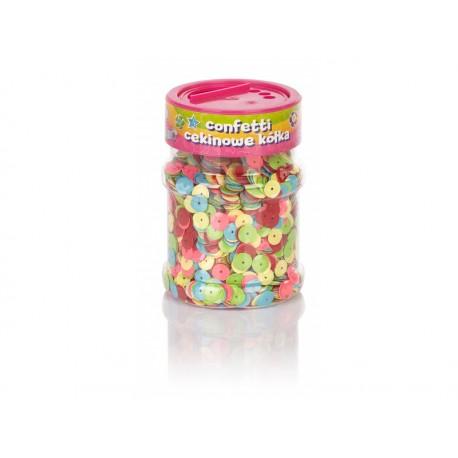 CREATIVO Dekoračné konfety KRÚŽKY Neon 100g, 335116003 ASTRA AST2310