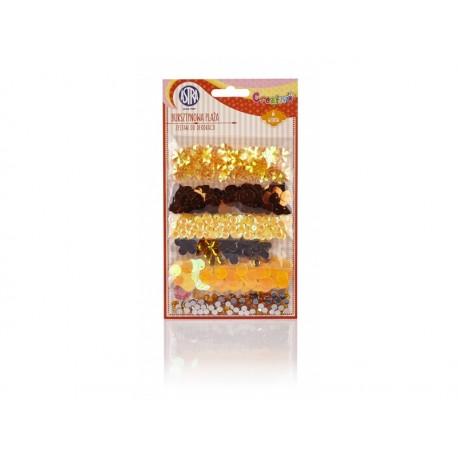 CREATIVO Dekoračná sada (konfety, kamienky, korálky, kryštáliky) AMBRA, 335117007 ASTRA AST2331