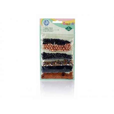 CREATIVO Dekoračná sada (konfety, kamienky, korálky, kryštáliky) ČIERNA PERLA, 335118001 ASTRA AST2332
