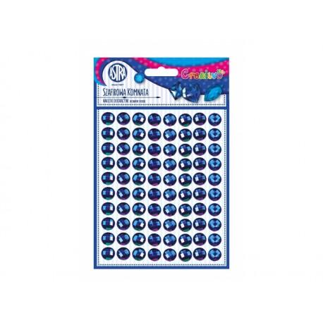 CREATIVO Dekoračné samolepiace kamienky, 11 mm, 80 ks, MODRÝ ZAFÍR, 335118010