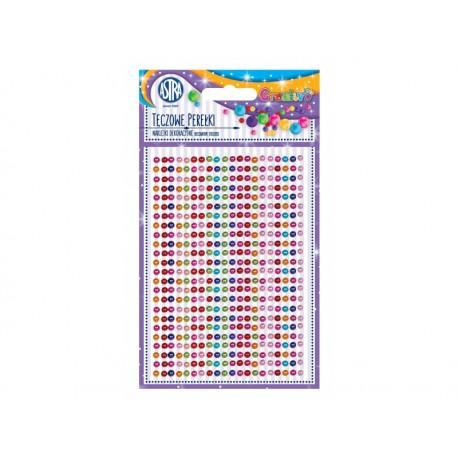 CREATIVO Dekoračné samolepiace perličky, 4 mm, 460 ks, MIX FARIEB, 335118012
