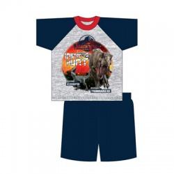 Chlapčenské bavlnené krátke pyžamo JURASSIC WORLD