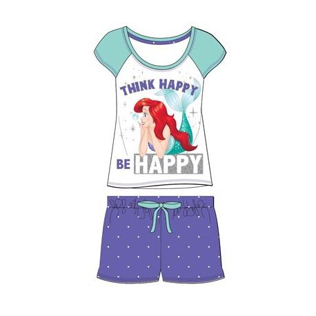 Dámske krátke bavlnené pyžamo LITTLE MERMAID Happy - L (large)