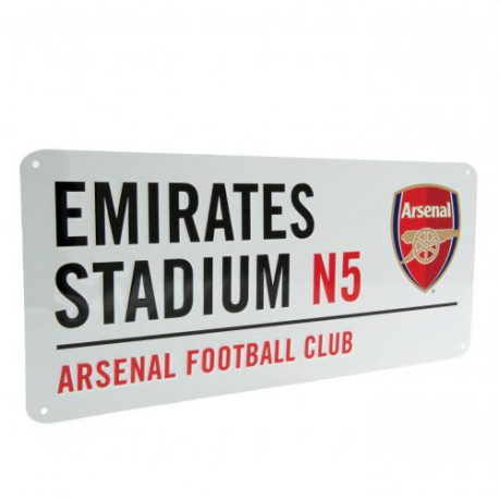 Plechová tabuľa 40/18cm ARSENAL White FOREVER COLLECTIBLES ARS1540