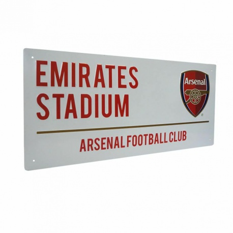 Plechová tabuľa 40/18cm ARSENAL White FOREVER COLLECTIBLES ARS1539