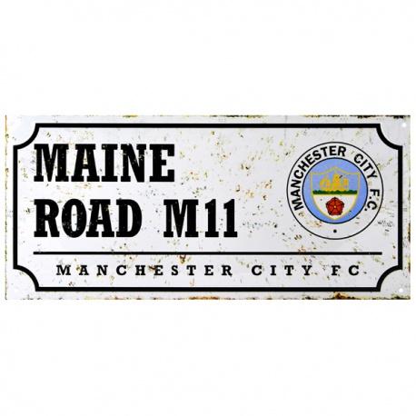 Plechová tabuľa 40/18cm MANCHESTER CITY Retro FOREVER COLLECTIBLES MNC1764