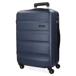 ABS Cestovný kufor ROLL ROAD Navy Blue, 65x46x23cm, 56L