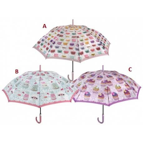 PERLETTI® Dámsky automatický dáždnik SWEET / B (CAKES)