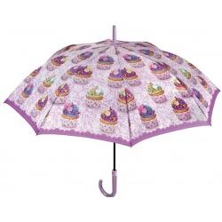 PERLETTI® Dámsky automatický dáždnik SWEET / C (MUFFINS)