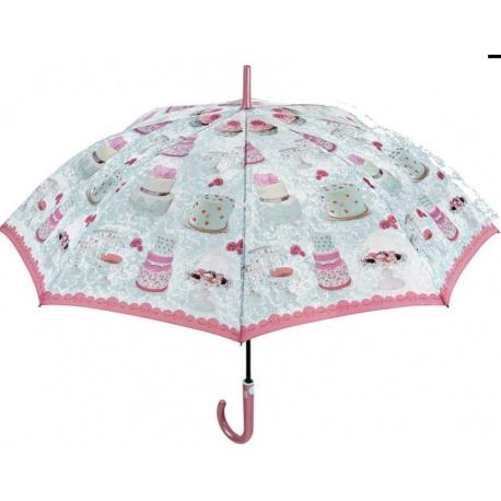 PERLETTI® Dámsky automatický dáždnik SWEET / B (CAKES) PERLETTI® PER0956CA