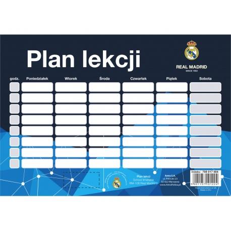 Rozvrh hodín / Timetable REAL MADRID, 708017004 ASTRA REA1487x