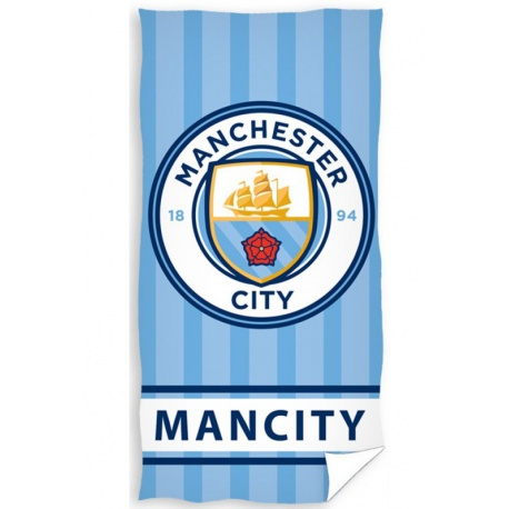 CARBOTEX Bavlnená osuška 75/150cm MANCHESTER CITY Stripe CARBOTEX MNC1869