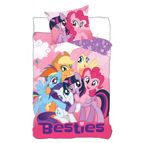 CARBOTEX Obojstranné obliečky MY LITTLE PONY Besties, 140/200+70/80 CARBOTEX PON0915