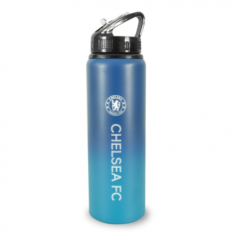Hliníková fľaša s výsuvnou slamkou CHELSEA F.C. Fade Tritan, 750ml
