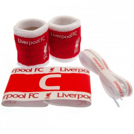 Accessories set LIVERPOOL F.C. (2x potítko, kapitánska páska, šnúrky do topánok) FOREVER COLLECTIBLES LIV1523