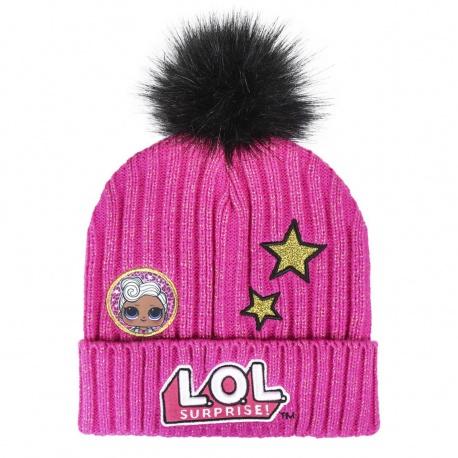 Detská zimná čiapka s aplikáciami L.O.L. Surprise Premium, 2200004295 CERDÁ LOL0869