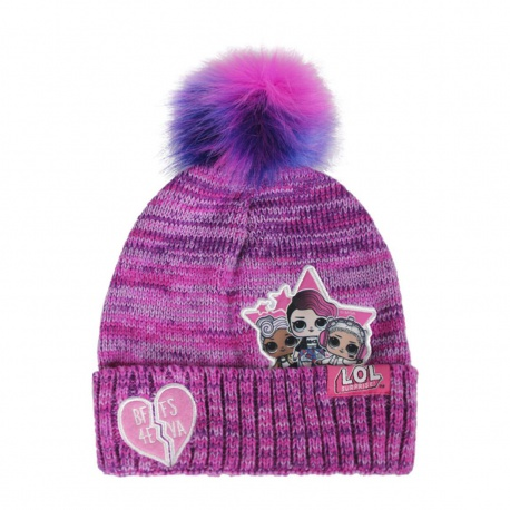 Detská zimná čiapka s aplikáciami L.O.L. Surprise Premium, 2200004296 CERDÁ LOL0868