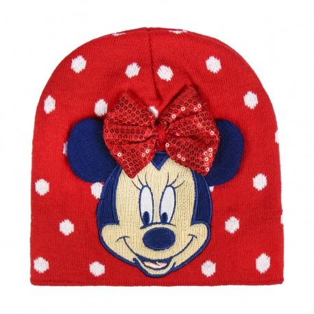 Detská zimná čiapka s aplikáciami  MINNIE MOUSE Red, 2200004350