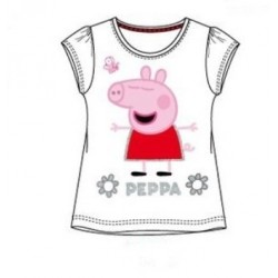 Dievčenské bavlnené tričko PEPPA PIG biele (EN6118)